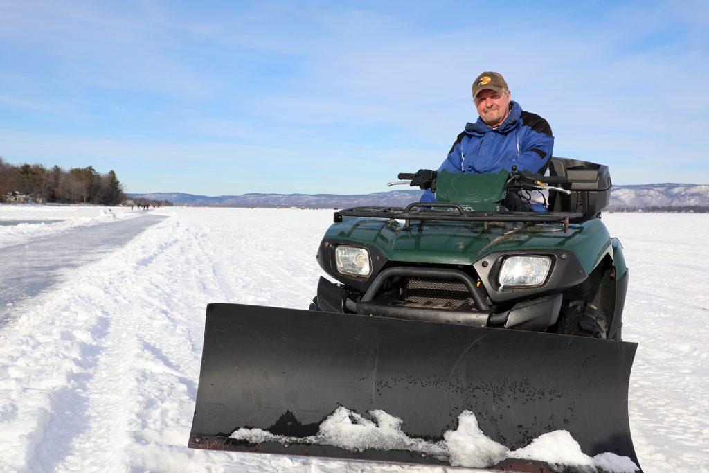 Volunteer Steve Platthy on his ATV.