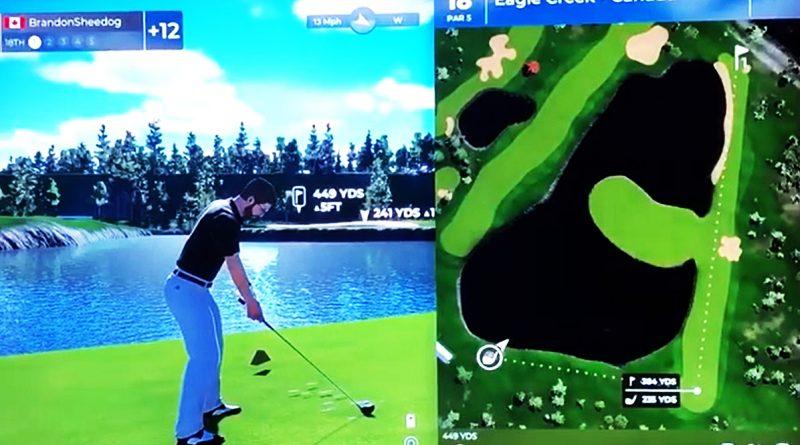 A screengrab of Eagle Creek's 18th hole.