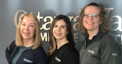 The FMOB team includes (l-r) Dr. Ursula McGarry, Dr. Amy Toderian, and Dr. Julie Stewardson. Missing: Dr. Nathalie Slaney.