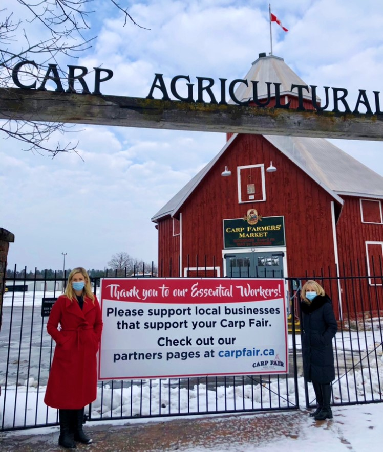 Dr. Fullerton and Carp BIA chair Jen Stewart