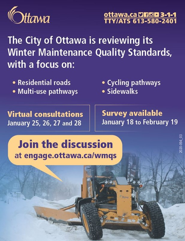 A poster about the Winter Maintenance program.