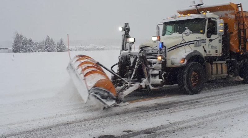 A City of Ottawa plow truck hard at work.