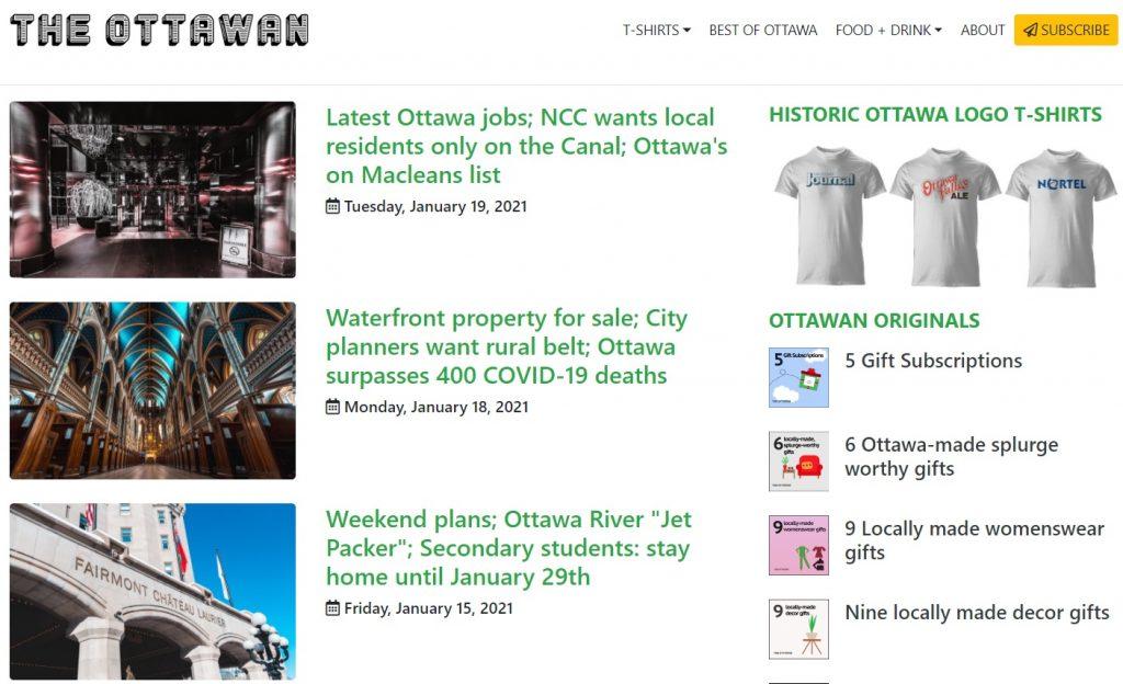 A screengrab of The Ottawan website.