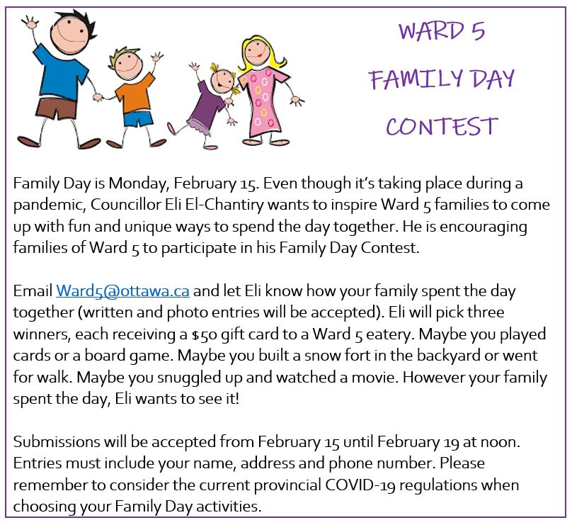 Coun. El-Chantiry's Family Day contest.
