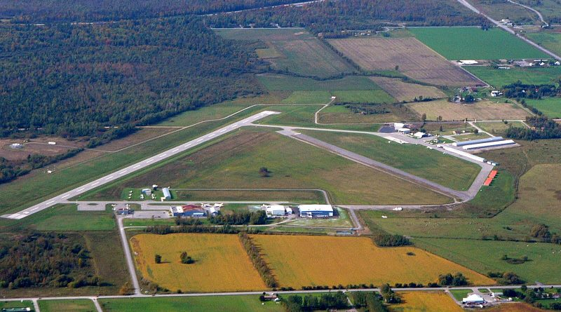 An aerial view of the Carp Airport.