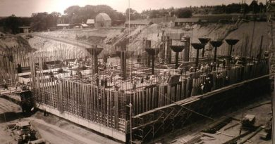 A photo of the construction