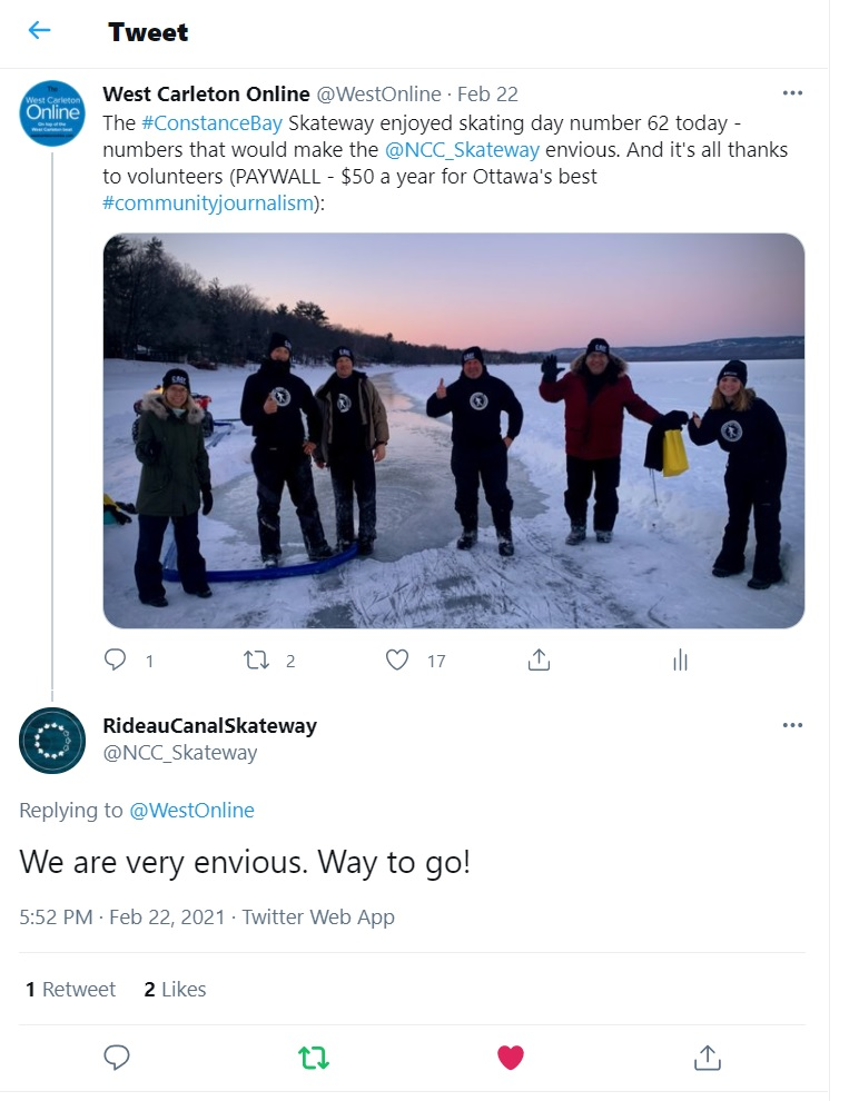 A photo of the NCC's tweet.