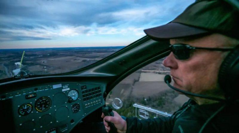 Kinburn's Neil Spriggs flying.