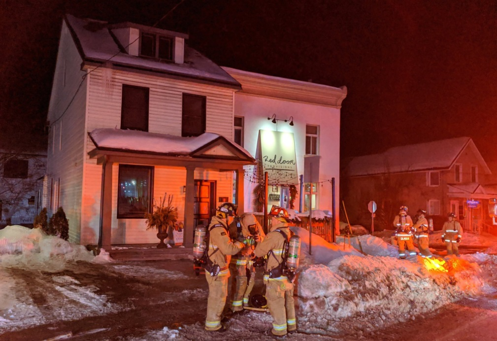 Ottawa firefighters were able to contain this Beechwood Avenue fire to the basemont. One of four fires overnight. Courtesy the OFS