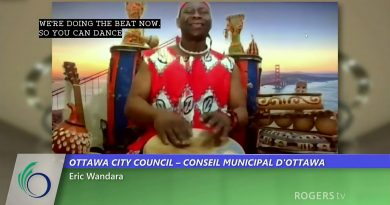Drummer Eric Wandara kicks off Ottawa's council meeting.