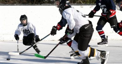 Players enjoying a game of hockey in the WCOHL.