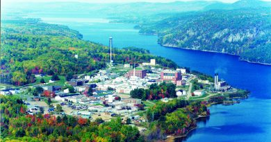 An aerial view of Chalk River Laboratories.