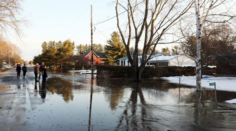 A photo of flooding along John Shaw Road.