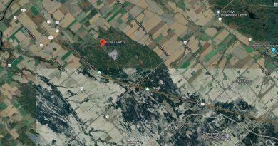 A satellite photo of the Kinburn Quarry area.