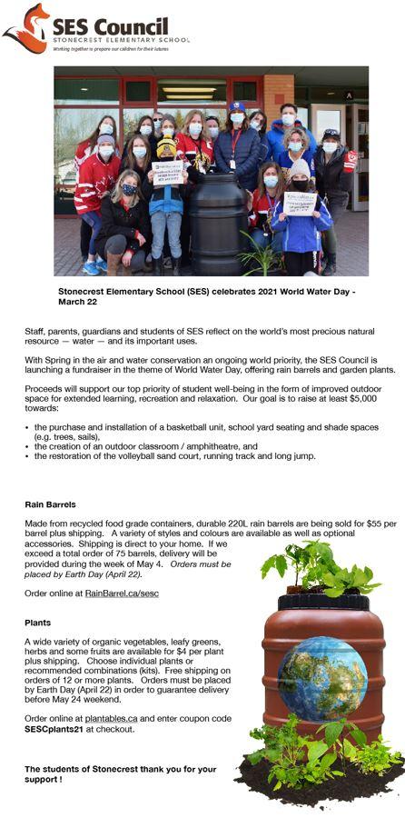 Poster for rainbarrel fundraiser.