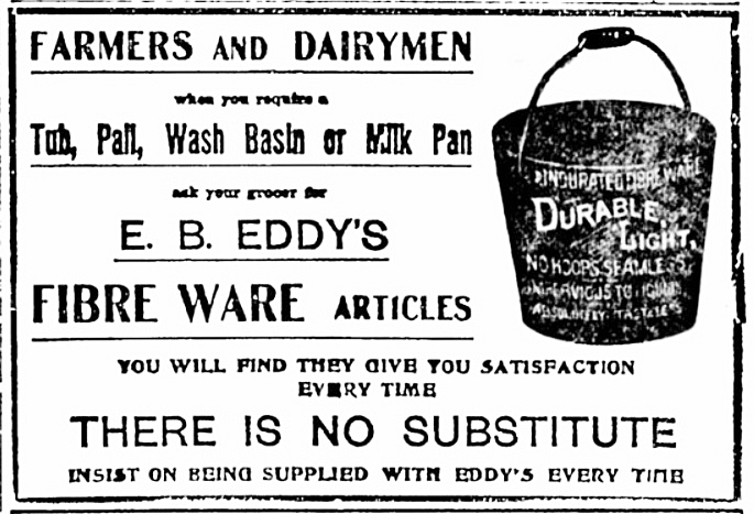 An ad from the Feb. 15, 1906 Carp Review.