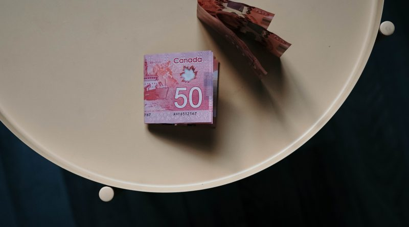 A photo of money on a plate.