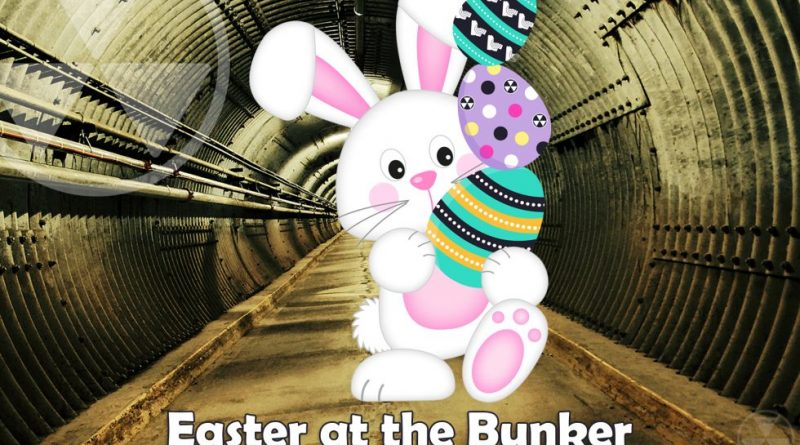 A photo of the Easter Bunny in the Diefenbunker blast tunnel.