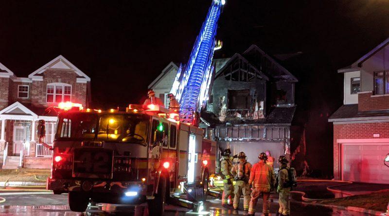 A photo of a burnt Kanata home.