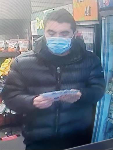 A photo of one of the suspects.