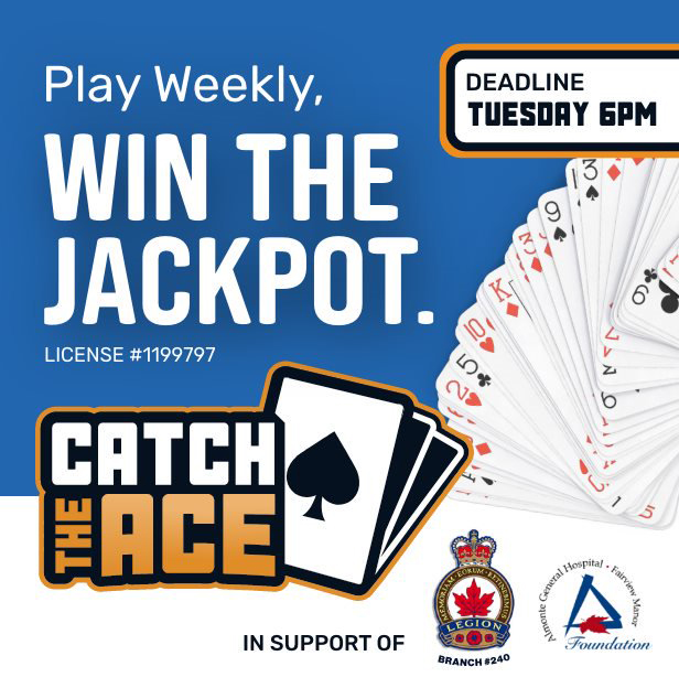 An advertisement for Catch the Ace.
