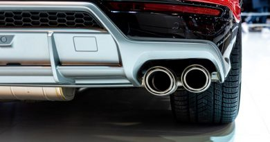 A photo of a car's emission system.