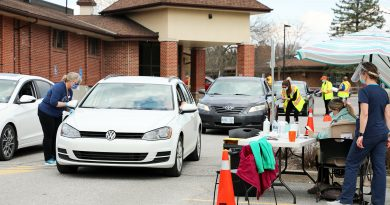 The WCFHT drive-through vaccination clinic.