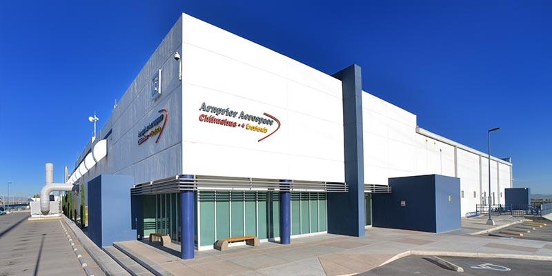 A photo of the Arnprior Aerospace building.