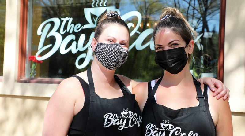 A photo of Bay Cafe owners Sarah Wright and Jade Adary.