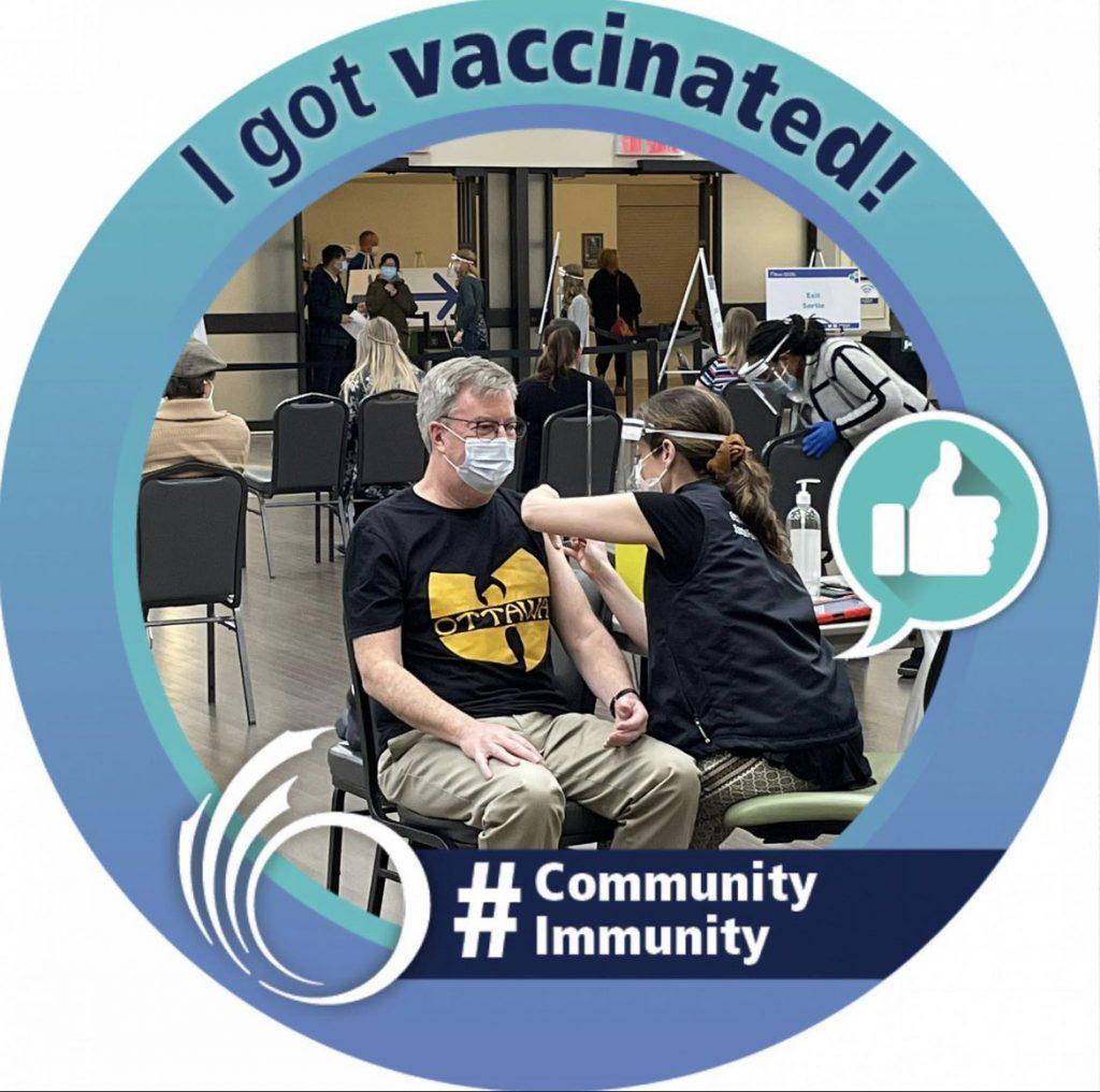 Mayor Jim Watson getting vaccinated.