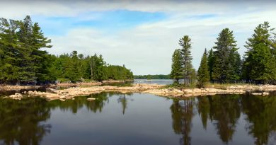 A photo of Morris island.