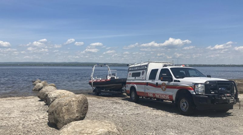 A photo of the OFS water rescue unit.