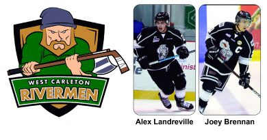 A photo of the Rivermen's top two draft picks.