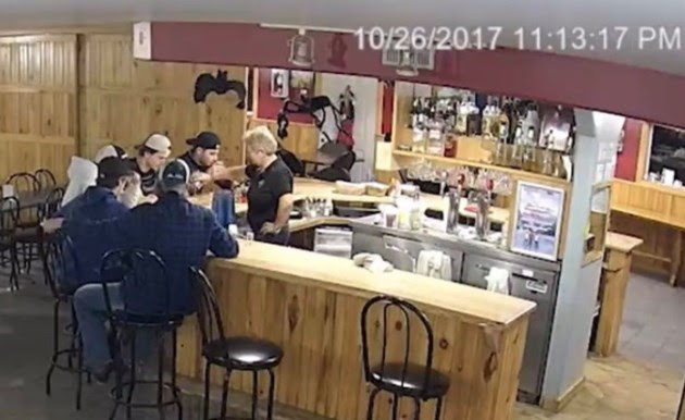 A photo from the bar the night of the incident.