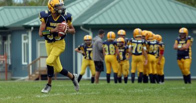 West Carleton football players at practice.