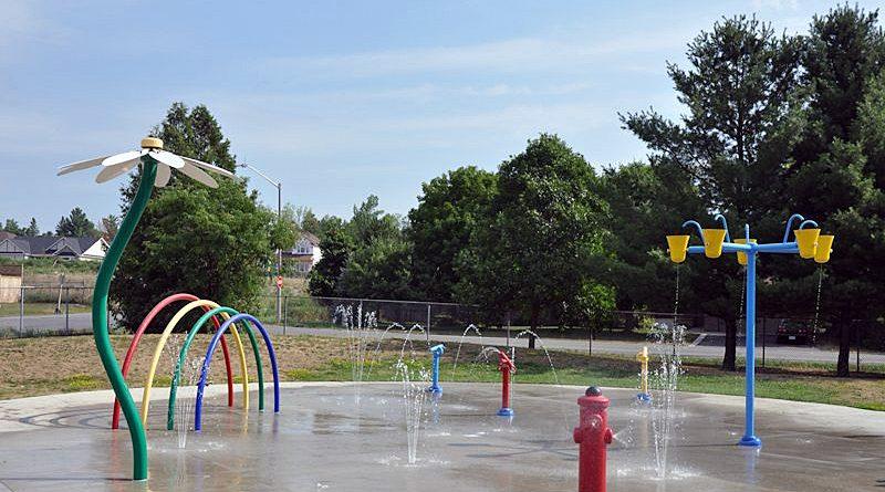 A photo of the Carp splash park.