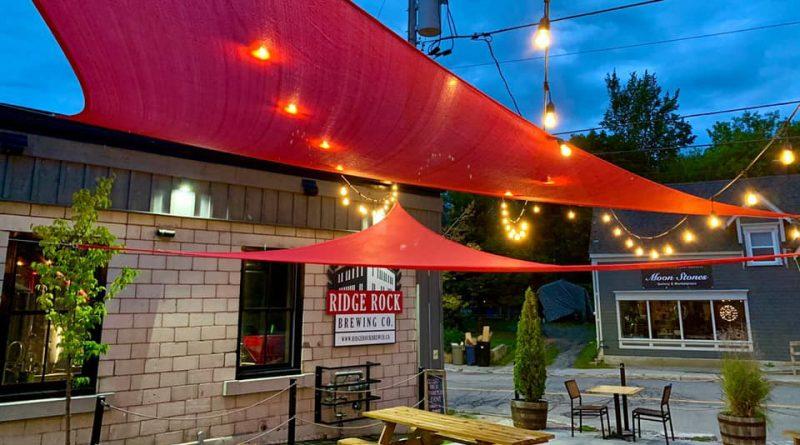 A photo of the Ridge Rock patio.