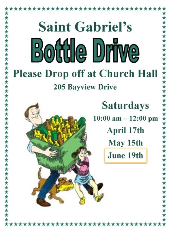a poster for the bottle drive.