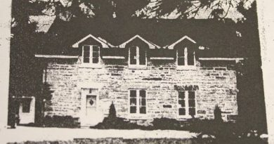 An old photo of the Grierson House.