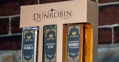 A photo of Dunrobin Distilleries' products.