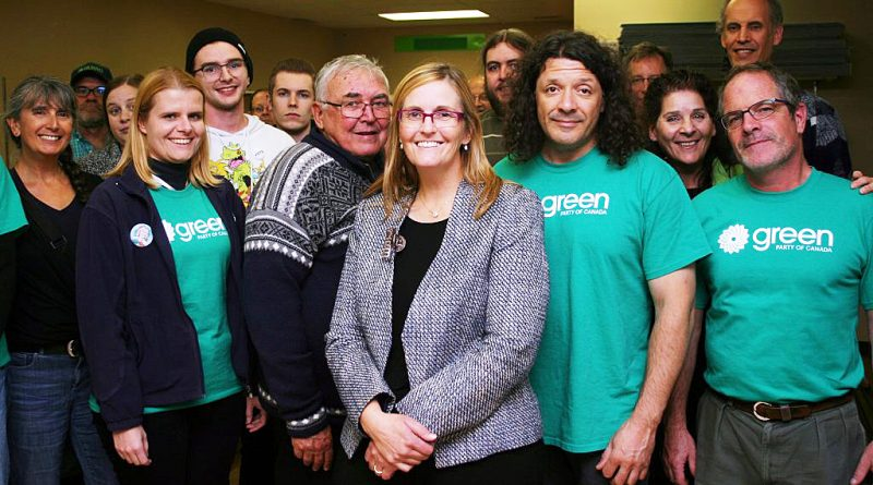 A photo of Green Party volunteers including Jenn Purdy.