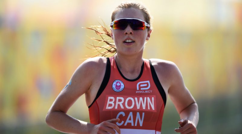 A photo of Joanna Brown competing.