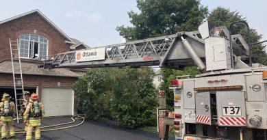 Firefighters battle a Barrhaven blaze.