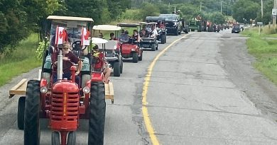 A photo of the tractor parade.