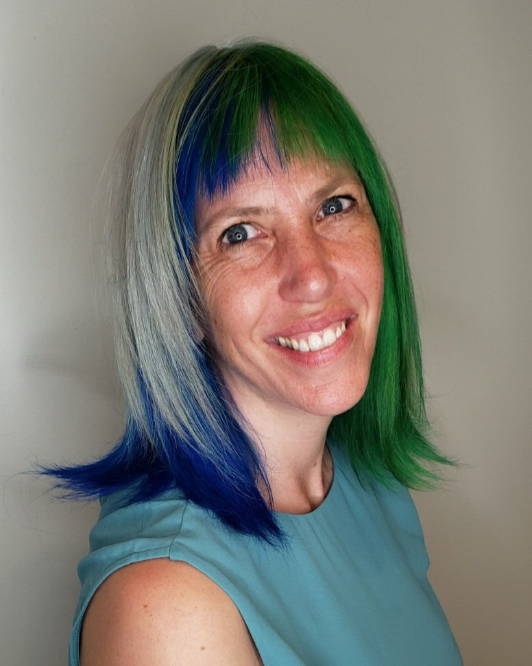 A photo of Dr. Vera Etches new ' do.