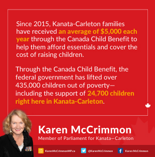 An ad for MP Karen McCrimmon.
