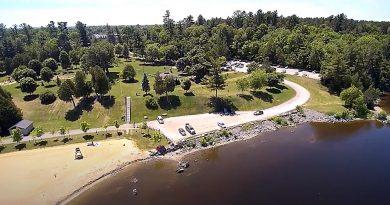 Photo of Robert Simpson Park lower parking lot.