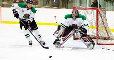 A photo of Rivermen playing hockey.