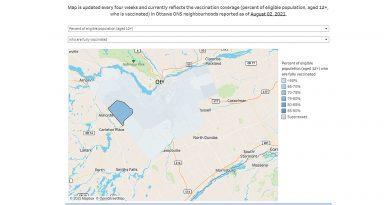 A screegrab of the Ottawa Community Neighbourhood map study.