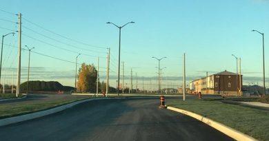 A photo of Campeau Drive.